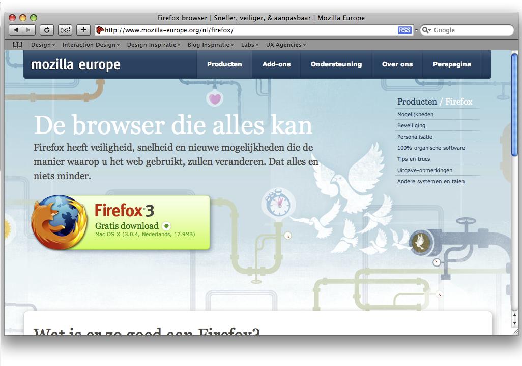 Wet van overeenkomstigheid Firefox