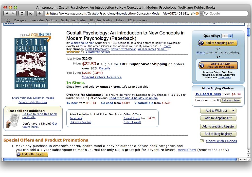 Wet van overeenkomstigheid Amazon.com