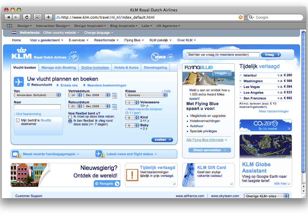 Wet van geslotenheid KLM